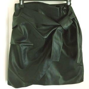 Express - High Waisted Wrap Front Skirt